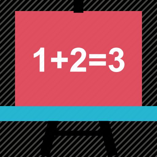 board, education, math icon