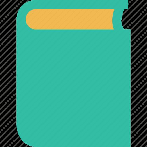 book, cover, school icon