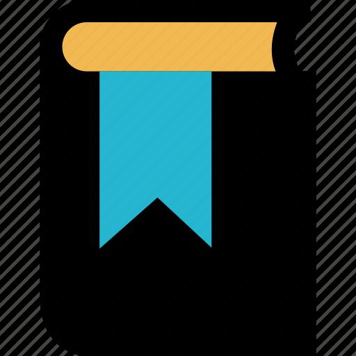 book, bookmark, mark, school icon