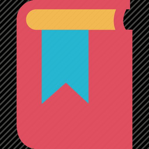 book, bookmark, school icon