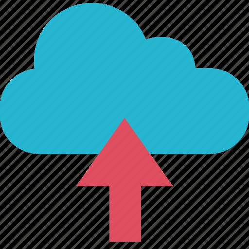 arrow, cloud, school, up icon