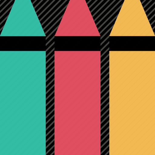 crayola, crayons, education icon