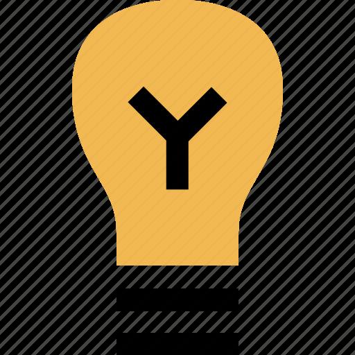 brilliant, bulb, education, light icon