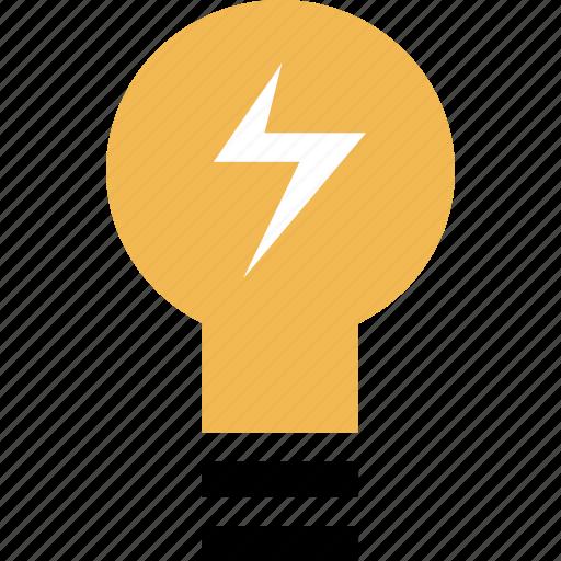 brilliant, bulb, learning, light icon