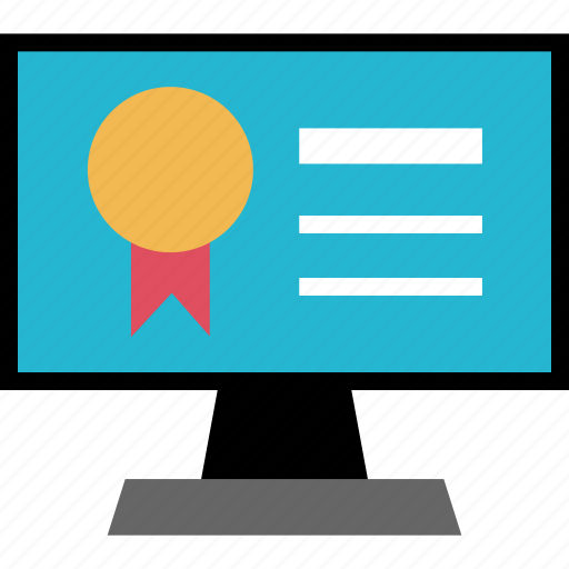 award, monitor, screen icon