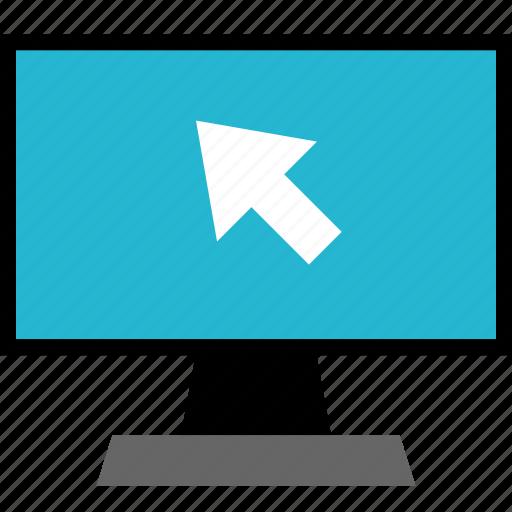 arrow, education, monitor, point icon