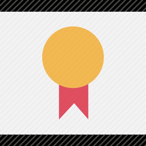 award, education, ribbon icon