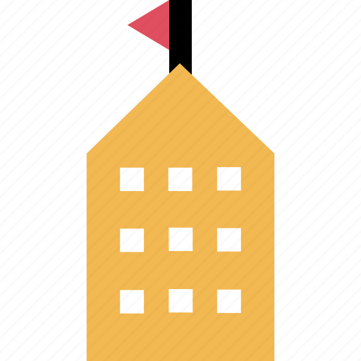 building, learning, school icon