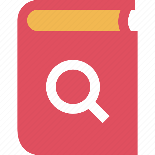 book, chapter, learning, search icon