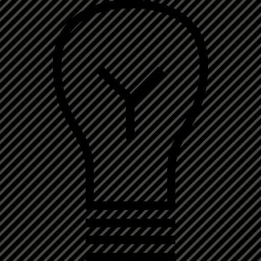 brilliant, education, idea, light icon