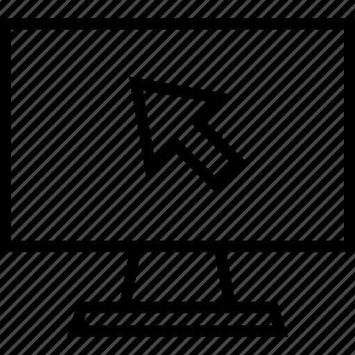 arrow, education, mouse, pc icon