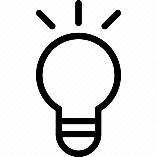 bulb, discovery, education, idea, light, research, think icon