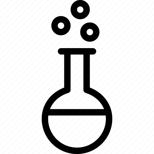 bubble, chemical, chemistry, conical flask, experiment, lab, laboratory icon