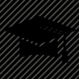 education, graduation, hat, university icon