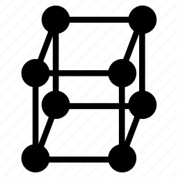 cube, hypercube, square icon