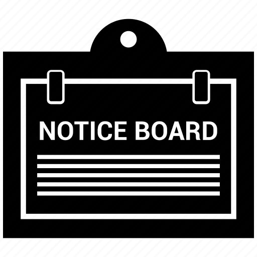 Board, notice, noticeboard icon - Download on Iconfinder