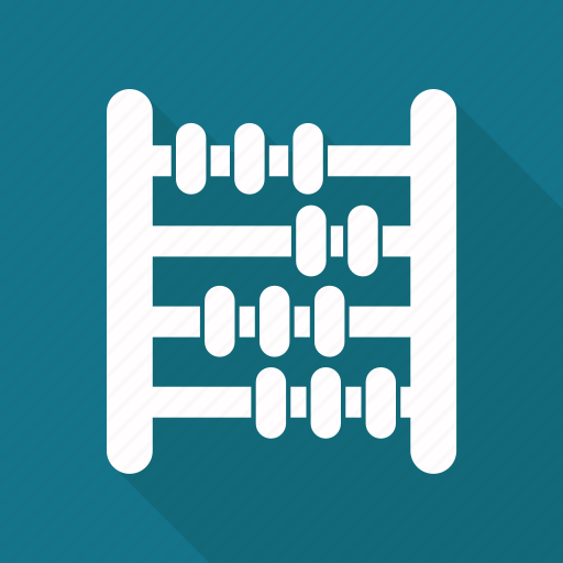 abacus, education, math icon
