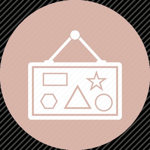 blackboard, educate, education, presentation icon
