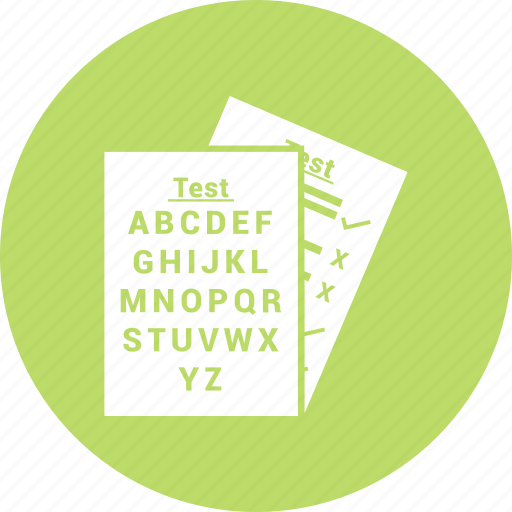 document, paper, split test, test icon icon