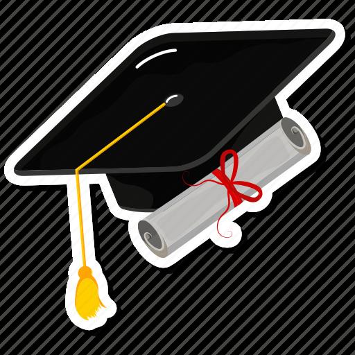 books, cap, graduate, graduation icon