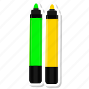 highlightmarker, marker, orange, write icon