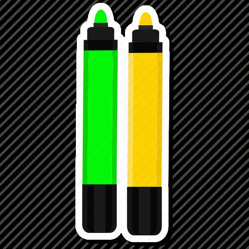 highlightmarker, marker, orange, write icon