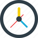clock, round clock, time, timer icon icon