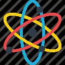 proton icon, nuclear, molecule, orbit, atom