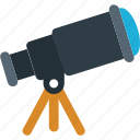 vision icon, planetarium, astronomy, telescope, spyglass icon