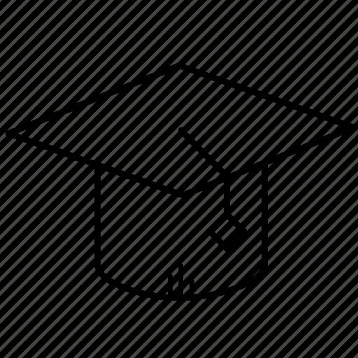 cap, degree, diploma, education, graduation, learning icon