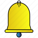bell, education, learning, study icon