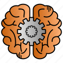 brain, brainstroming, education, idea, study icon