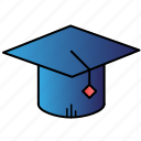 cap, degree, diploma, education, graduation, learning icon