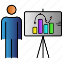 board, education, learning, presentation, study icon