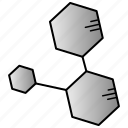 eduation, molecular, science, structure, study icon