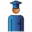 education, learning, man, student, study icon