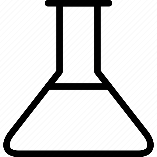 beaker, chemical, chemistry, conical flask, erlenmeyer flask, flask, laboratory flask icon