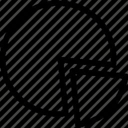 percent, percentage, pie chart, ratio, technology icon