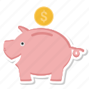 bank, money, piggy bank, savings icon