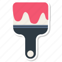 brush, paint, paint brush, painting, wall paint icon