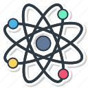 atom, molecule, outline, physics icon
