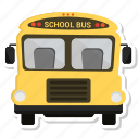 bus, school bus, transportation, travel icon