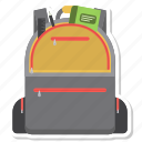 backpack, bag, education, school, school bag icon