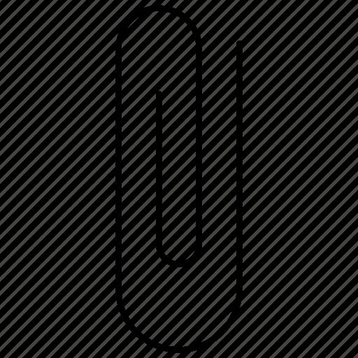 attach, attachment, clip, education, paper icon
