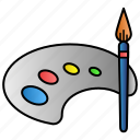 art, brush, drawing, education, learning, paint icon