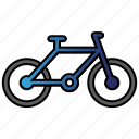 bicycle, bike, learning, study icon
