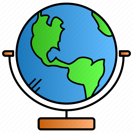 earth, education, globalworld, learning, study icon