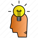 clever, education, idea, smart, study icon