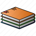 books, education, learning, library, study icon