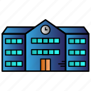 apartment, building, education, school, study icon